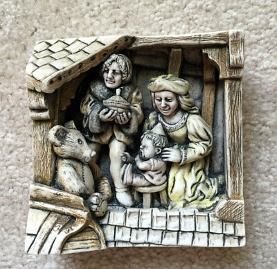 HARMONY KINGDOM Wimberley Tales Picturesque Relief Tile THE BIRTHDAY NIB $35