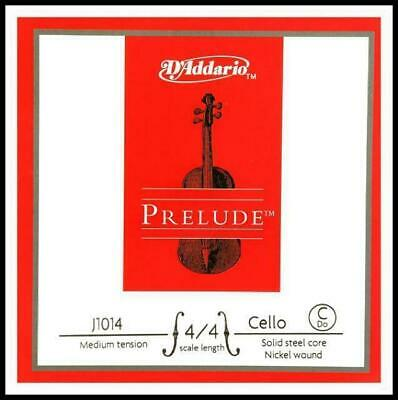 D'addario Prelude Cello Single C String 4/4 Scale Medium Tension Made in USA