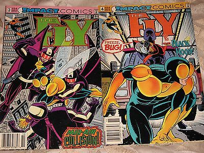 "Set of 2 ""1991"" Impact comics, ""The Fly"", Oct. #3, Nov.#4, Very Good Condition"