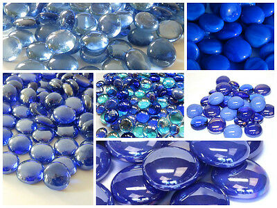 Blue Round Glass Pebbles / Nuggets / Stones  *CHOOSE FROM ALL OF MY BLUE STONES*