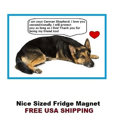 177 - German Shepherd Dog Love Refrigerator Toolbox Magnet