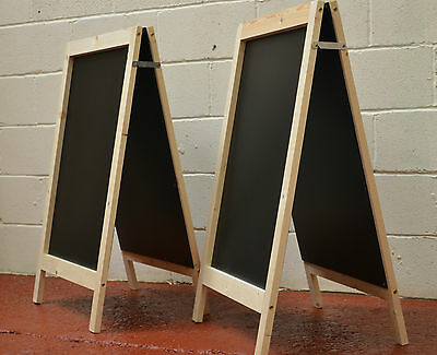 2  Large Wooden Pavement Sign A-Board Chalkboard /Cafe/Shop/Pub/Liquid Chalk