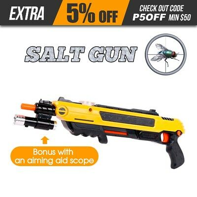 Salt Gun for Flies Bees Stink Bugs Insect Mosquito Bug using a salt