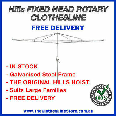 Hills Rotary Hoist Heritage 4 Clothes Line Tough Galvanised Steel Clothesline