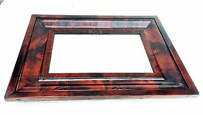 Antique American Empire Wall Mirror Federal Furniture Crotch Flame Mahogany