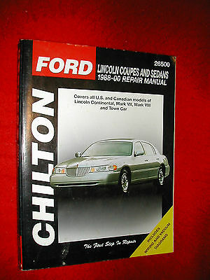 Chilton...lincoln Coupes & Sedans 1988-00....paperback