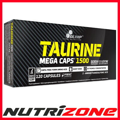 OLIMP NEW Taurine 1500 Mega Caps Amino Acids Energy Strength Booster 120caps