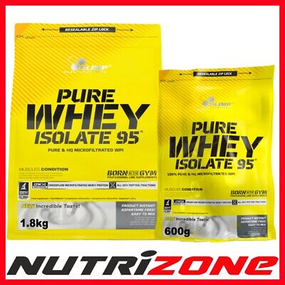 OLIMP Pure Whey Protein Isolate 95 Powder Pure WPI Isolate Amino Acid Vit B6 D C