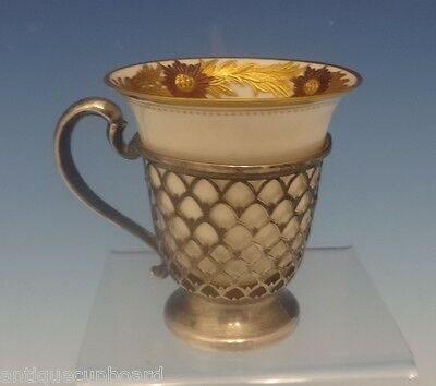 Chrysanthemum by Tiffany & Co. Sterling Silver Demitasse Cup with Liner (#0348)