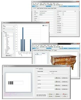 Modern Mid Century Victorian Antique Item List Inventory Cost Tracking Software
