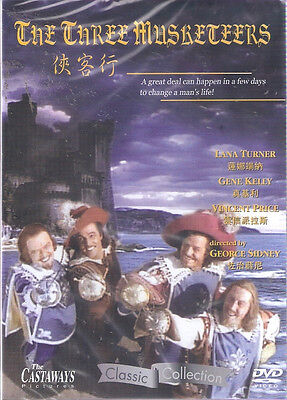 The Three Musketeers DVD Kelly Gene Vincent Price Lana Turner NEW Eng Sub