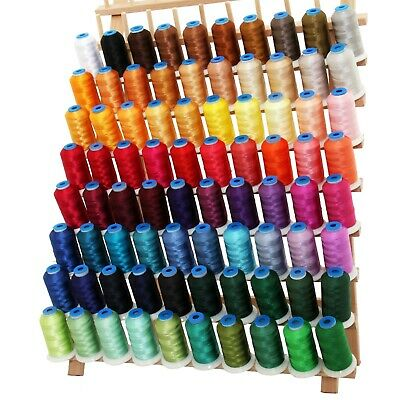 Machine Embroidery Polyester Thread Set C&d - Big 1000M Cones - 80 Colors -40Wt
