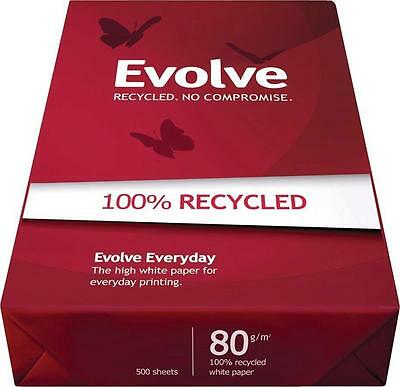 Evolve White Everyday Recycled A3 Paper 80gsm 500 Sheets 3613630000554 (Pack of