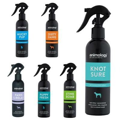 Animology Dog Puppy Finishing Grooming Coat Sprays Anti Tangle No Rinse 250ml