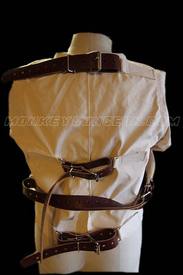 Early1900s style straight jacket antique replica leather straps 2XL  XXL