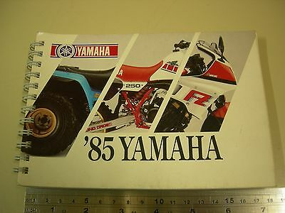 Yamaha Dealer's Product Information Booklet 1985 An Invaluable Reference Manual