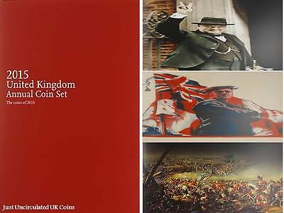 2015 Royal Mint Brilliant Uncirculated Annual Coin Set Booklet