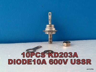 10 Pcs Kd203A/кд203А/ Silicon Rectifier Diode  600V 10A Ussr Nos
