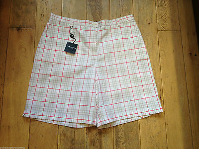 Burberry Ladies White Nova Check Golf Shorts Uk 16 100% Genuine