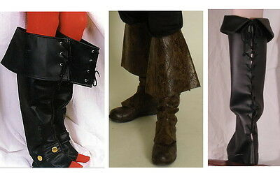 Boots Gauntlets F. Fancy Dress Medieval Larp Pirate Musketeer Baroque Rococo