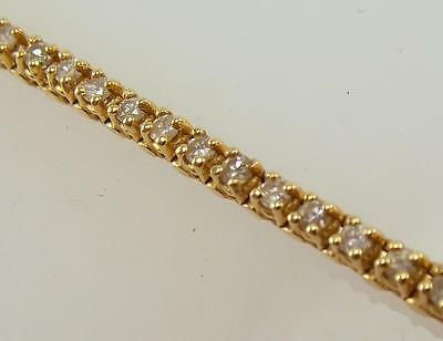 14K Yellow Gold 2 Cttw Genuine Round Diamond Tennis Bracelet 7 Inch