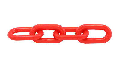 "Plastic Chain 6mm 1-1/2"" X 50 Ft  - Red"