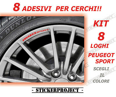ADESIVI PEUGEOT SPORT CERCHI RIMS - 207 208 308 508 108  decal sticker