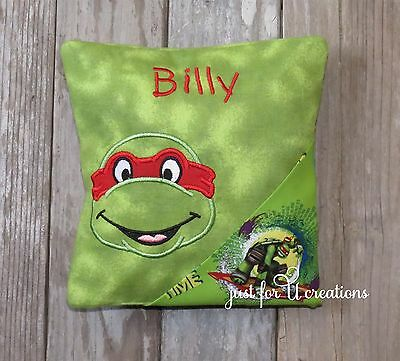 Boy's Personalized Tooth Fairy Pillow Teenage Mutant Ninja Turtles Raphael