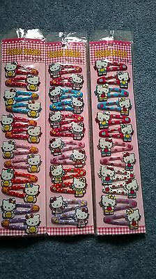 Girls Hair Clips Party Bags hello kitty,barbie,minnie mouse party supplies NEW