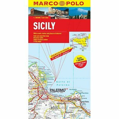 Sicily Marco Polo Map MAIRDUMONT GmbH Co. KG Sheet folded 9783829767712