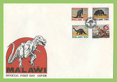 Malawi 1993 Dinosaurs set on First Day Cover