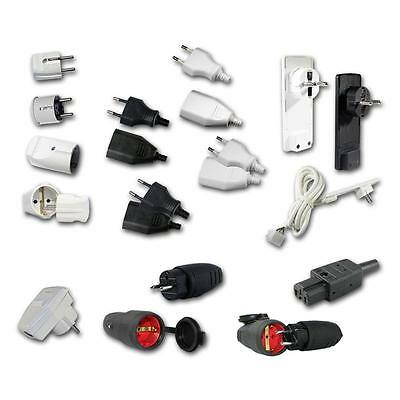 240V connectors different Types, connector plug / coupler, power connect