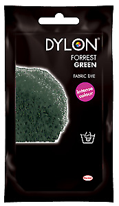 Dylon Hand Dye 09 Dark/Forest Green With or Without salt (Discount for Qty)