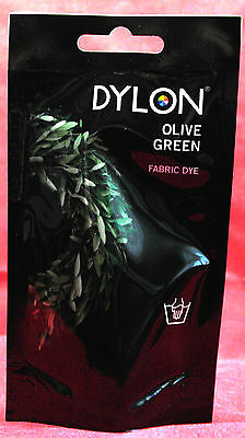 Dylon Hand Dye 34 Olive Green With or Without salt  (Discount for Qty)