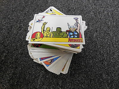Marvel The Avengers Silver Age - Complete 100 Card Base Set w/ Promo P1