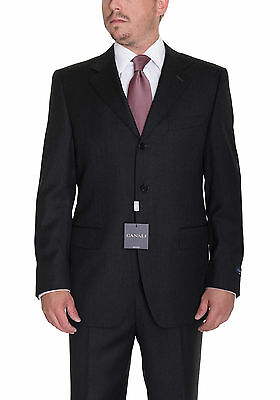 Canali 36S 46 38S Solid Heather Charcoal Gray Three Button Wool Suit