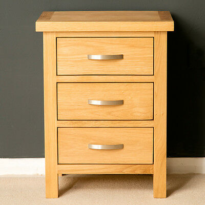 London Oak Bedside Table / Light Oak Bedside Cabinet / Natural Solid Wood / New