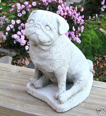 Concrete Pug Dog Statue Or Use As A Monument