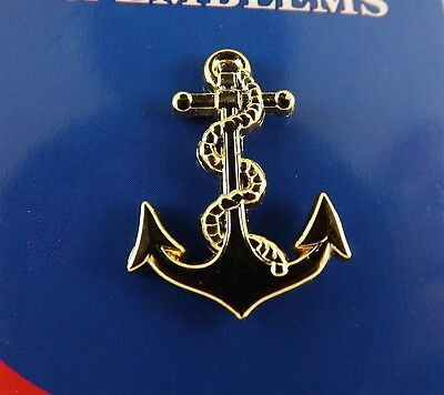 BRAND NEW Lapel Pin United States Navy ANCHOR Gold Tone 1""