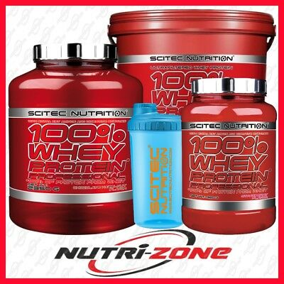 SCITEC NUTRITION 100% Whey Protein Professional BCAA + FREE SHAKER  BEST PRICE!