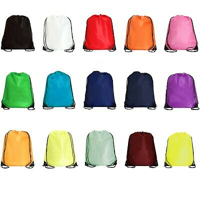 "Drawstring Backpack Cinch Sack Bags VALUE 15"" x 18.5"" 14 Colors by Threadart"