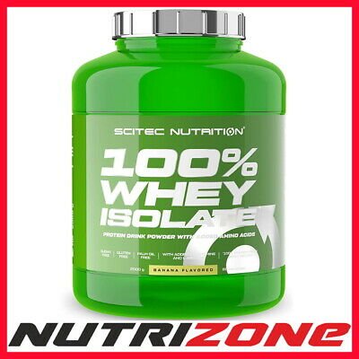 SCITEC NUTRITION 100% Whey Protein Isolate Concentrate +Glutamine WPI WPC Powder