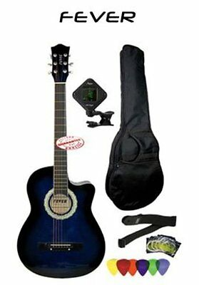 Guitar 3/4 Size Cutaway With Bag, Tuner, Strap, Strings & Picks, FV-030C-BL-PACK