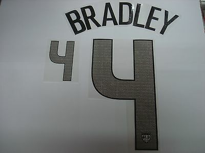 BRADLEY #4 USA Home 2012-14 PU PRINT NAME NUMBERING