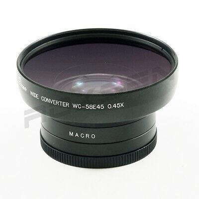 0.45x DSLR Wide Angle Conversion Lens 58mm for CANON PENTAX NIKON 82mm front