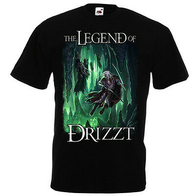 Drizzt Do'Urden T-Shirt Fruit of the Loom Salvatore The Legend of Drizzt S-5XL
