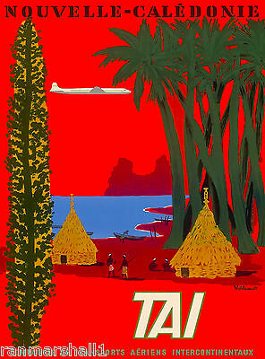 New Caledonia South Pacific Nouvelle Caledonie Travel Advertisement Poster
