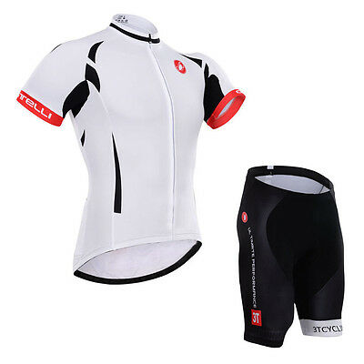 Fashion Men Cycling Jersey Shorts Set Road Team Bike Riding Shirt Pants Suits