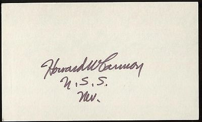 Howard W Cannon Signed Index Card 3x5 Autographed Signature AUTO