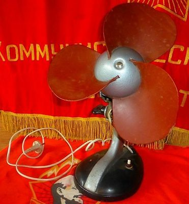 Vintage antique old hight guality USSr electric office fan cold war era 1958